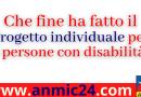 Che fine ha fatto il Progetto individuale per le persone con disabilità ?