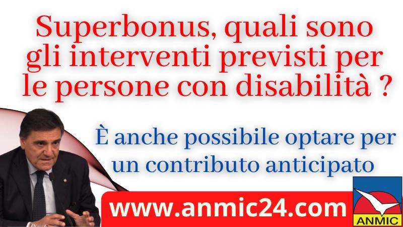 Superbonus, quali sono gli interventi previsti per le persone con disabilità ?